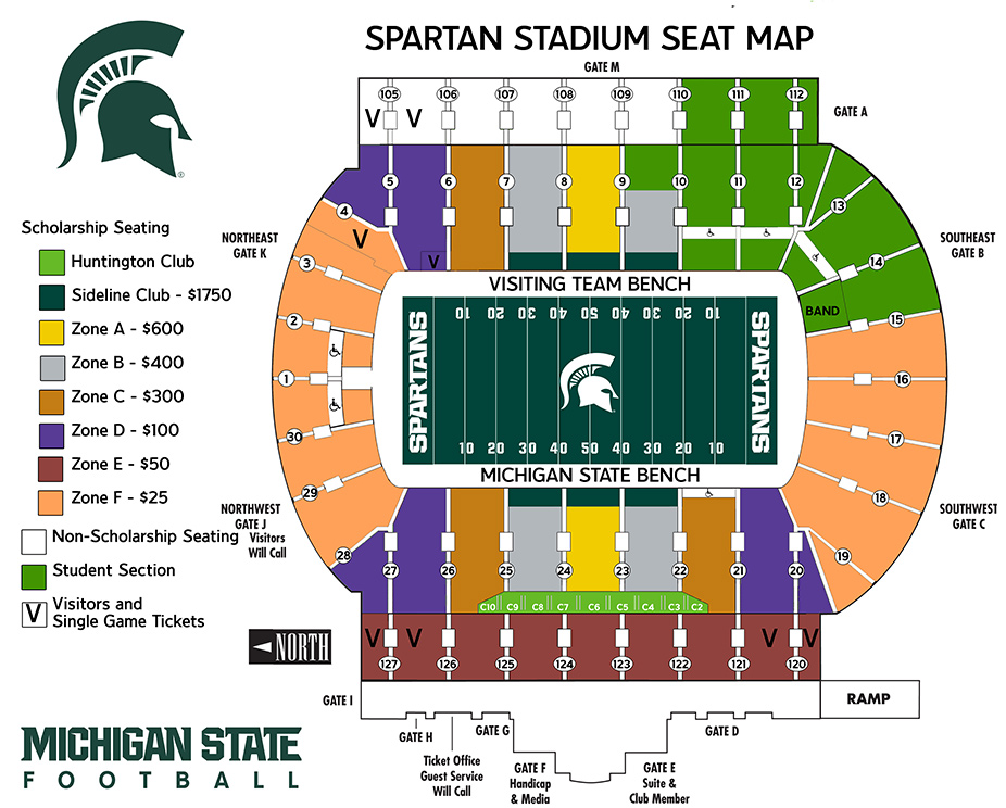 Find Your Seat At Spartan Stadium Michigan State