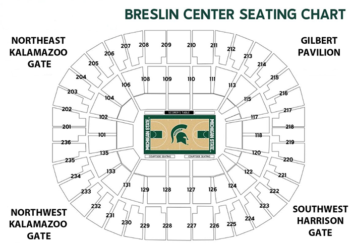 Find your seat at the breslin center michigan state university