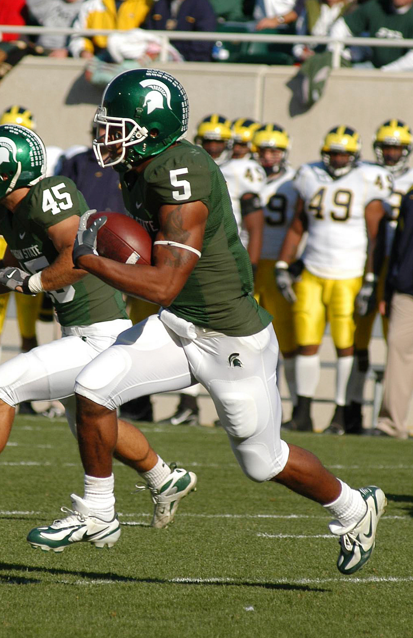 Thomas Selected No 34 Overall By Washington In 2008 Nfl Draft Michigan State University Athletics