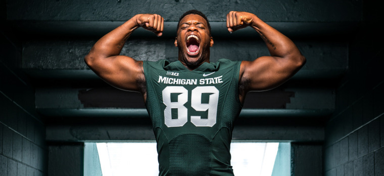 sale retailer 3aad7 84332 Shilique Calhoun: Larger Than Life - Michigan State ...