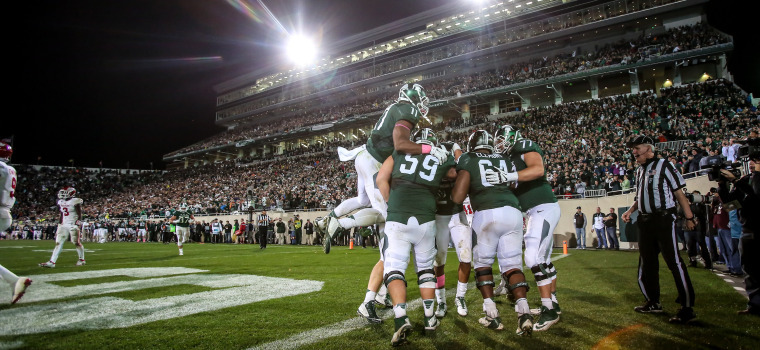no 7 spartans hit the road to face nebraska in primetime matchup