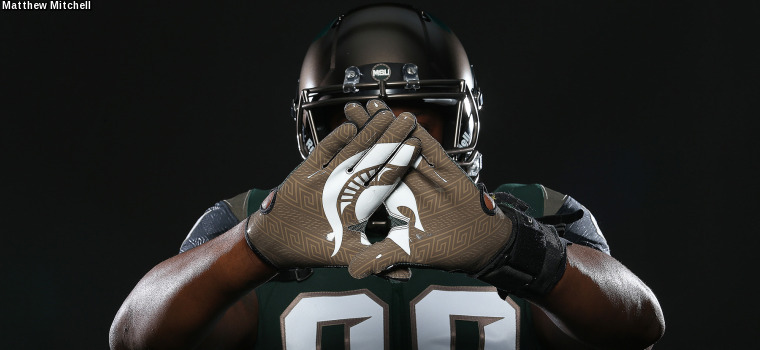 michigan state football updates nike uniform design michigan state