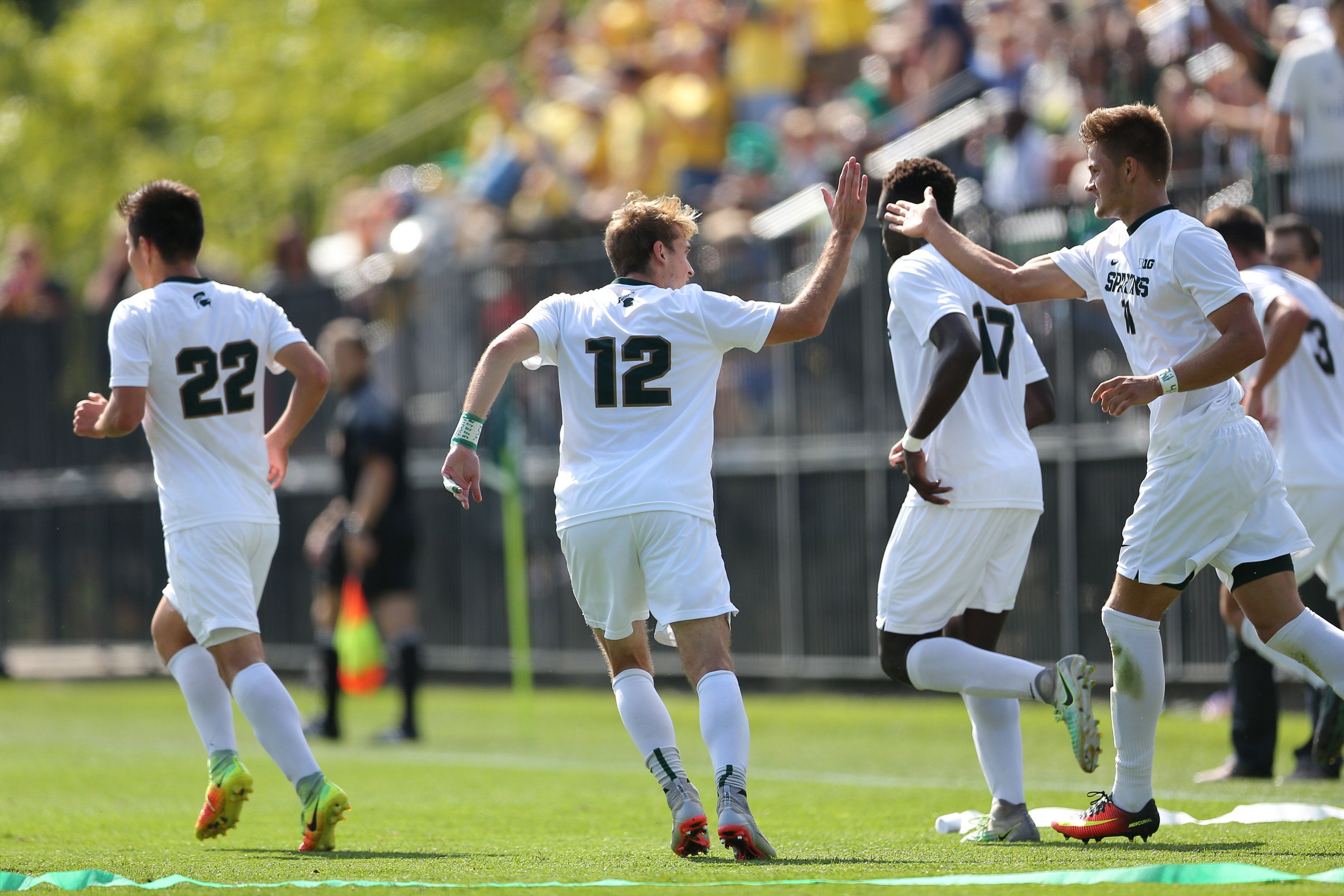 84699872ab9 Herr s First Career Goal Guides No. 20 MSU Soccer Past Yale ...