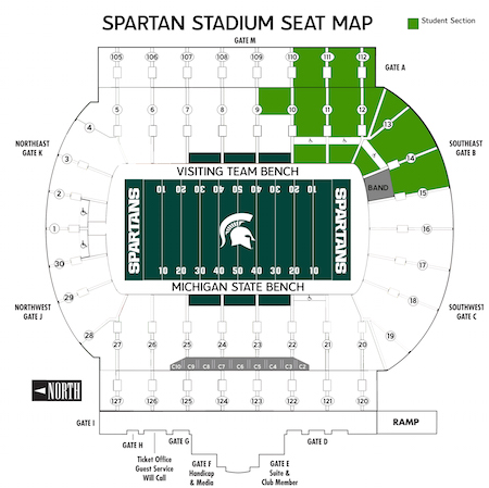 Michigan State Athletics Student Sections Michigan State