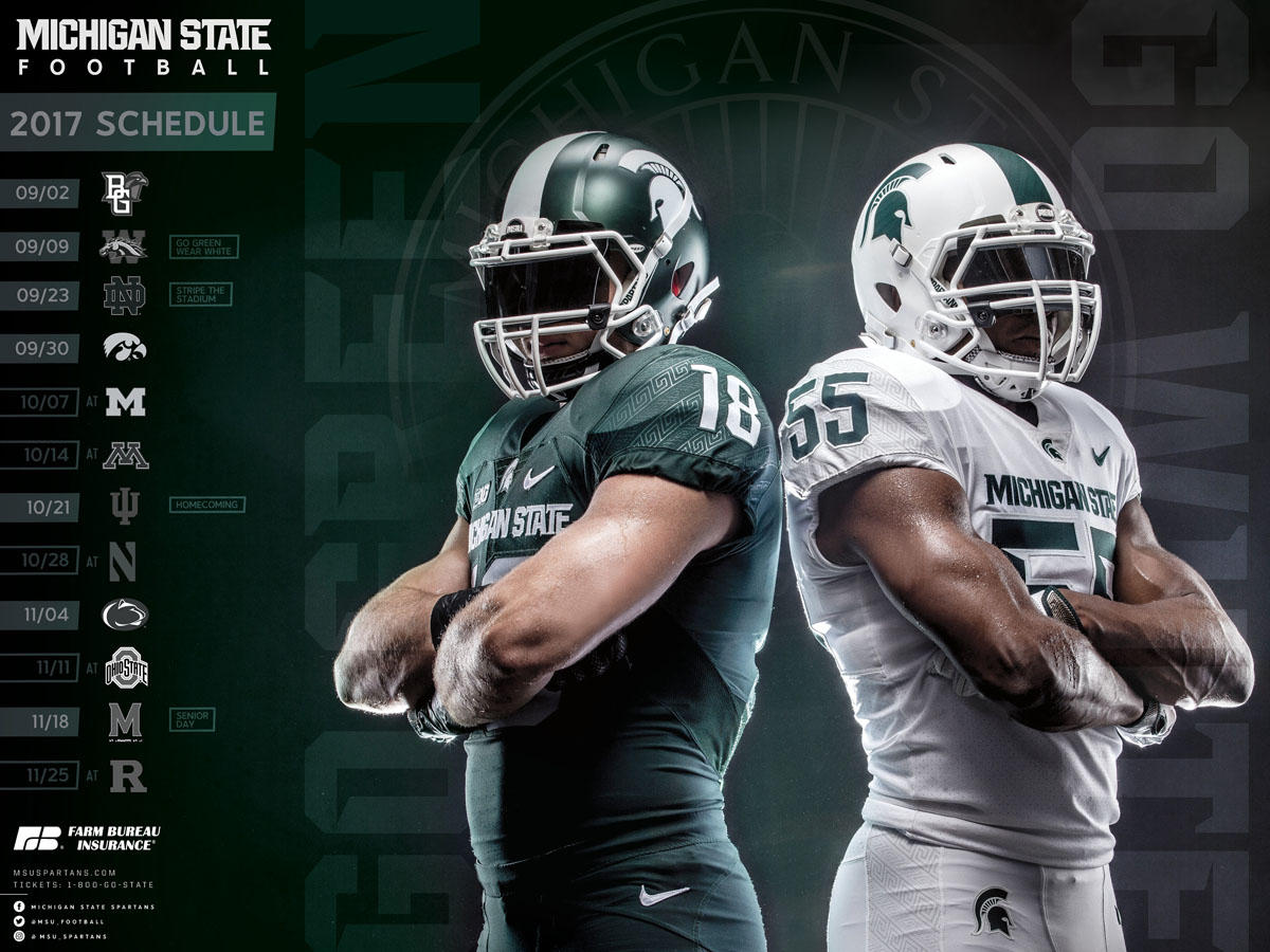 2019 Msu Football Schedule Posters   Michigan State University Athletics