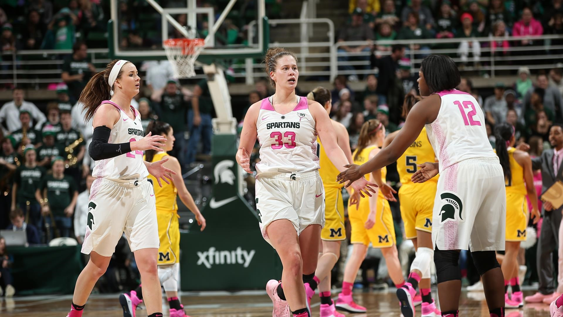 dfc34c13fb41 22 Spartans Host Purdue in Annual Pink Game Sunday - Michigan State  University Athletics