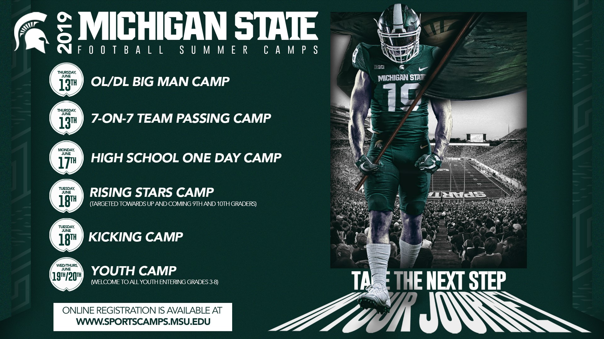 2019 Msu Football Schedule Registration Open for Michigan State Football Summer Camps