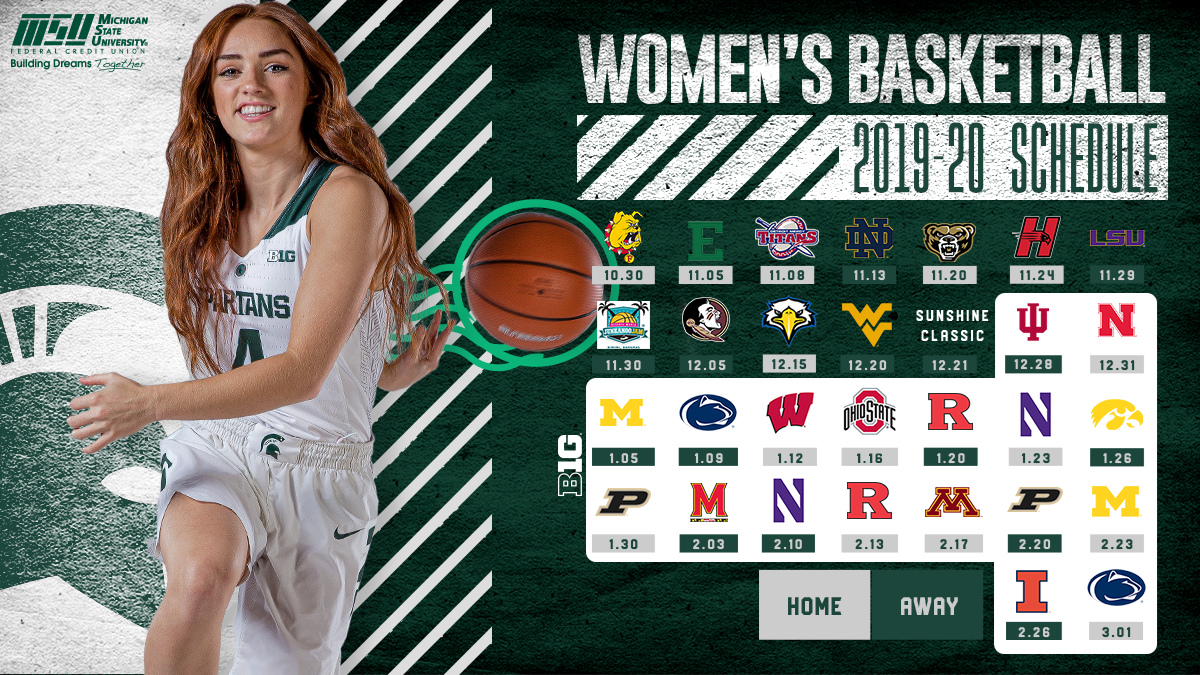 Spartan Women S Basketball Announces 2019 20 Schedule