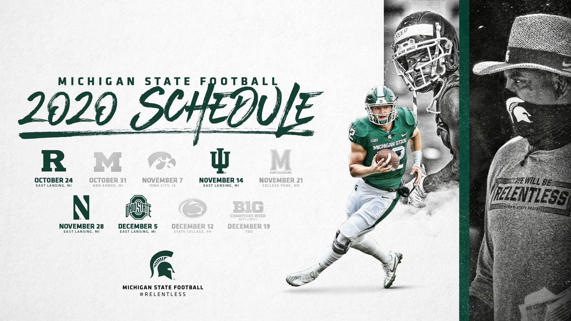 Big Ten Conference Announces 2020 Football Schedule Michigan State University Athletics